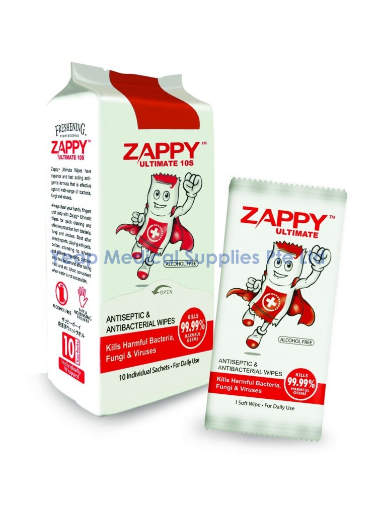 Zappy Boy Ultimate Antiseptic Wipes – Yeap Medical